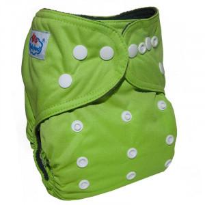Многоразовые подгузники Babyland со вставочками на ножках MAXI до 3х лет,Зеленый