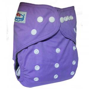 Многоразовые подгузники Babyland со вставочками на ножках MAXI до 3х лет,Фиолетовый