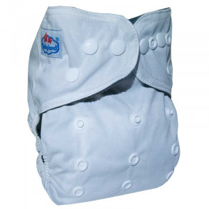 Многоразовые подгузники Babyland со вставочками на ножках MAXI до 3х лет,Белый