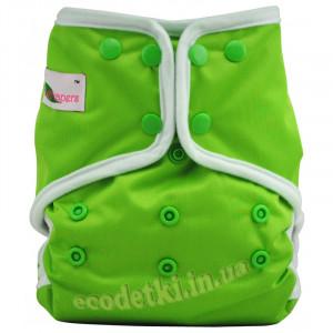 """Многоразовый подгузник """"Cover"""" c большим карманом (линия """"Grodiaper"""" от COOLABABY ) , Зеленый"""