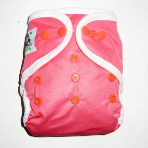 Подгузник Coolababy для новорожденных + вкладыш, Коралловый