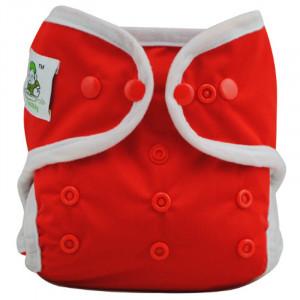 Подгузник Coolababy для новорожденных + вкладыш, Красный
