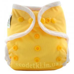 Подгузник Coolababy для новорожденных + вкладыш,Желтый