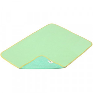 Пеленка Экопупс 65х90см трикотаж непромокаемая эвкалипт/зеленая