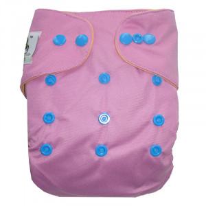 Многоразовый подгузник Coolababy Поло на кнопках, Лиловый