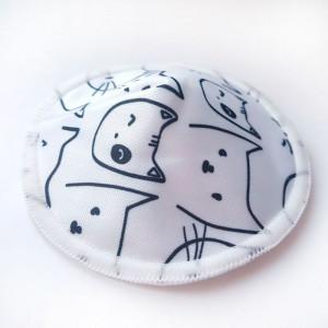Бамбуковые лактационные контурные прокладки-вкладыши для груди, Коты на белом