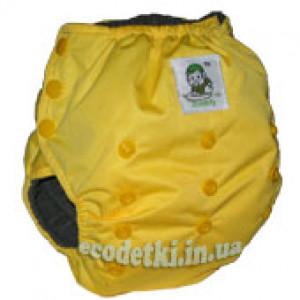 Тренировочные трусики Coolababy модель Pull Up Pants с бамбуковым угольным фибром, Желтый