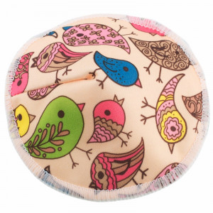 Бамбуковые непромокаемые вкладыши для груди, Птички