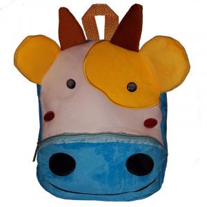 Рюкзачок детский плюшевый с мордочками животных, Коровка
