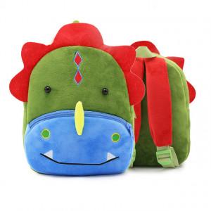 Рюкзачок детский плюшевый с мордочками животных,Динозаврик