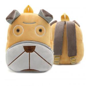 Рюкзачок детский плюшевый с мордочками животных, Собака