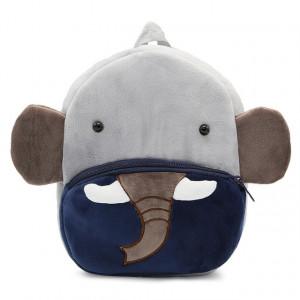 Рюкзачок детский плюшевый с мордочками животных, Слон