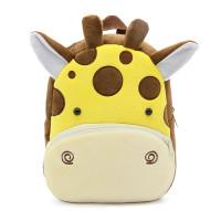 Рюкзачок детский плюшевый с мордочками животных, Жираф