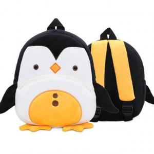 Рюкзачок детский плюшевый с мордочками животных, Пингвин