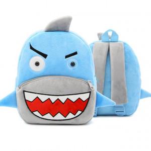 Рюкзачок детский плюшевый с мордочками животных, Акула