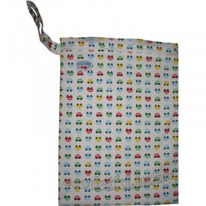Многоразовые непромокаемые сумочки для мокрого белья, подгузников, Babyland, Машинки на белом