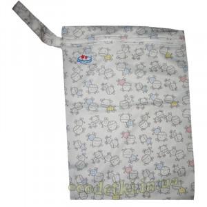Многоразовые непромокаемые сумочки для мокрого белья, подгузников, Babyland, Коровки
