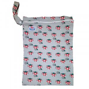 Многоразовые непромокаемые сумочки для мокрого белья, подгузников, Babyland, Грибочки