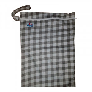 Многоразовые непромокаемые сумочки для мокрого белья, подгузников, Babyland, Клеточка
