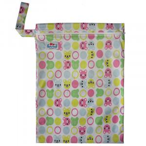Многоразовые непромокаемые сумочки для мокрого белья, подгузников, Babyland, Мишка с улыбкой