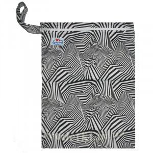 Многоразовые непромокаемые сумочки для мокрого белья, подгузников, Babyland, Зебра