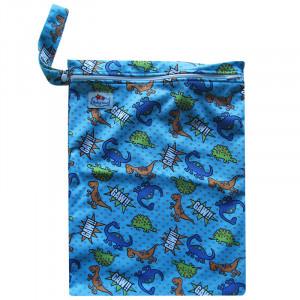 Многоразовые непромокаемые сумочки для мокрого белья, подгузников, Babyland, Динозавры на голубом
