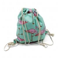 Многоразовая х/б сумочка для покупок, бассейна, пляжа, сменной обуви, игрушек